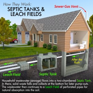 Septic Tank and Leach Field Diagram